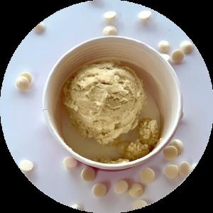 Coconut Cream Cheese Cookie Dough